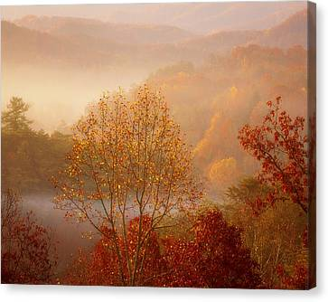 An Autumn Morning Canvas Print by Chris Moore