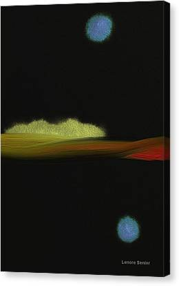 An Autumn Night Canvas Print by Lenore Senior