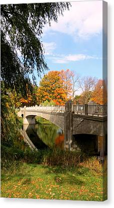 Lincoln Park Lagoon Canvas Print - An Autumn Scene by Kay Novy