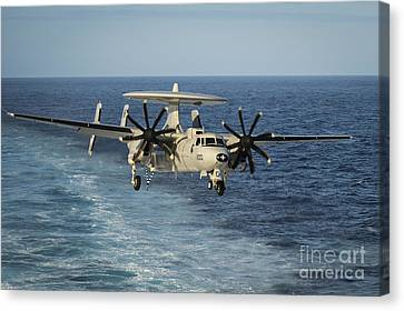An E-2c Hawkeye Prepares To Land Canvas Print by Stocktrek Images