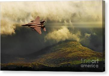 Canvas Print featuring the photograph An Eagle Over Cumbria by Meirion Matthias