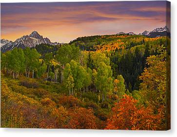 An Early Fall Morning Canvas Print by Tim Reaves
