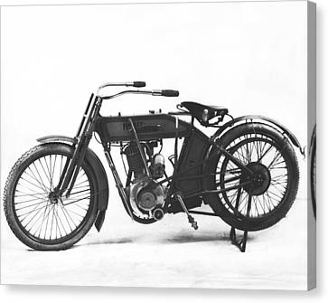 An Early Harley-davidson Canvas Print