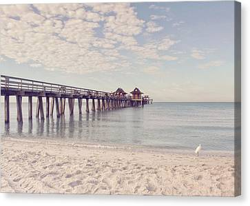 An Early Morning - Naples Pier Canvas Print