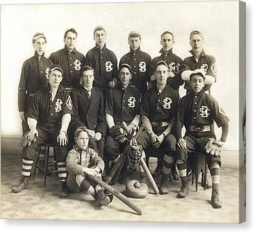 An Early Sf Baseball Team Canvas Print by Underwood Archives