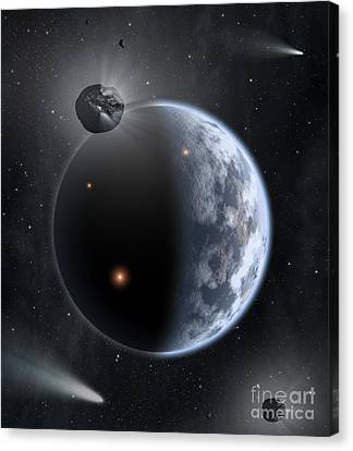 An Earth-like Planet Made Canvas Print by Stocktrek Images