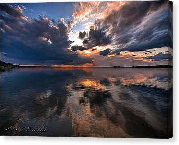 An Edgy  Calmness Canvas Print by Allen Biedrzycki