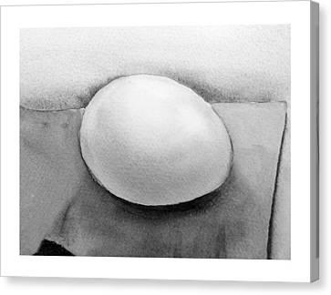 Wet On Wet Canvas Print - An Egg Study Four by Irina Sztukowski