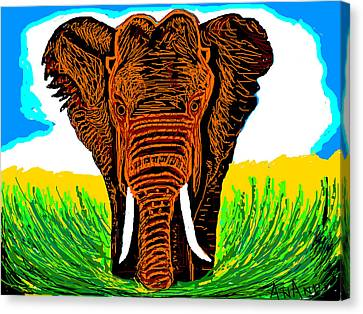 An Elephant-3 Canvas Print by Anand Swaroop Manchiraju