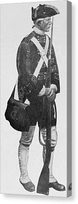An English Soldier, From The Mural Decoration, Hudson County Court House, Jersey City, New Jersey Canvas Print by Howard Pyle