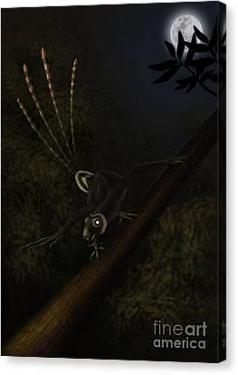 An Epidexipteryx Reacts Aggressively Canvas Print by Alvaro Rozalen