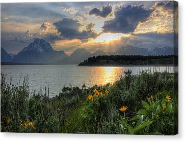 An Evening At Jackson Lake Canvas Print