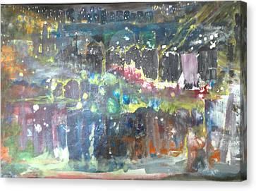 An Evening At The Hilltown Canvas Print