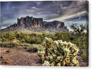 An Evening At The Superstitions Canvas Print