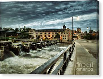 An Evening Down In The Flats Canvas Print by Mark David Zahn