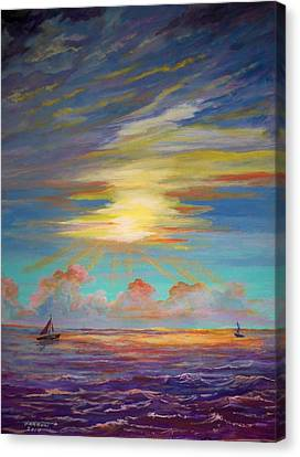 An Evening Sail Canvas Print
