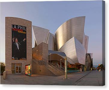 Canvas Print featuring the photograph An Evening With Gustavo - Walt Disney Concert Hall Architecture Los Angeles by Ram Vasudev