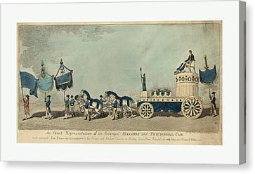 Old Car Canvas Print - An Exact Representation Of The Principal Banners by French School
