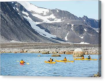 Canoe Canvas Print - An Expedition Cruise Tour by Ashley Cooper