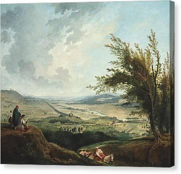 An Extensive Landscape Near Paris Canvas Print
