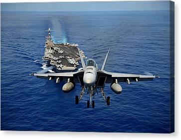 Worldwide Canvas Print - An F/a-18 Hornet Demonstrates Air Power. by Sebastian Musial