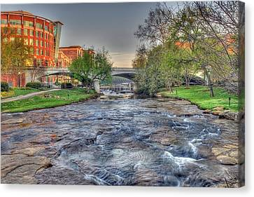 An Hdr Image Of The Reedy River In Downtown Greenville Sc  Canvas Print