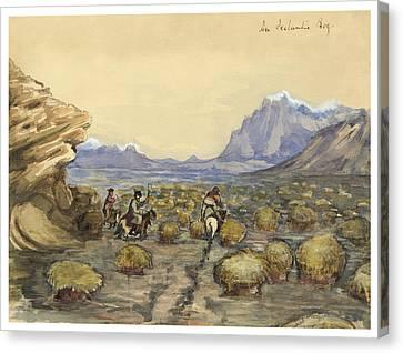 An Icelandic Bog Circa 1862 Canvas Print by Aged Pixel
