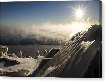 An Icy Scene In The Morning Sun Canvas Print by Sven Brogren