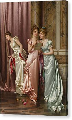 An Illicit Letter Canvas Print by Vittorio Reggianini