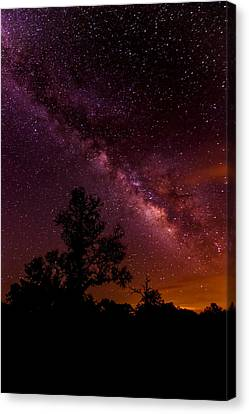 An Image Worth 520 Miles - Milky Way At Enchanted Rock Texas Hill Country Canvas Print