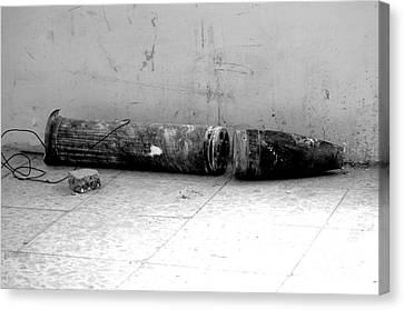 An Improvised Explosive Device Canvas Print by Andrew Chittock