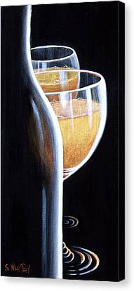 Canvas Print featuring the painting An Indecent Proposal by Sandi Whetzel