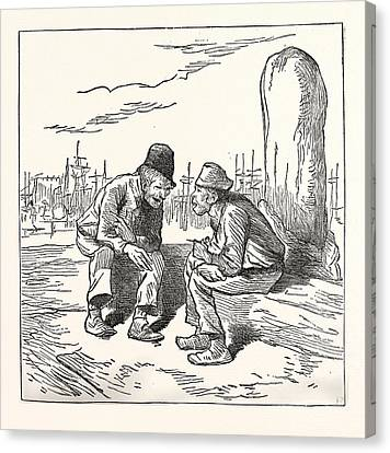 An Intelligent Voter, Engraving 1880, Us, Usa, Election Canvas Print by American School