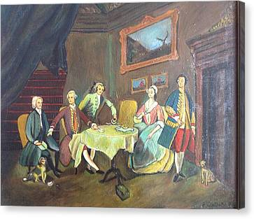 Canvas Print featuring the painting An Interior Setting by Egidio Graziani