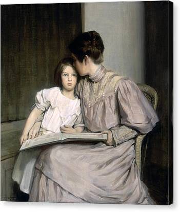 An Interlude Canvas Print by William Sergeant Kendall