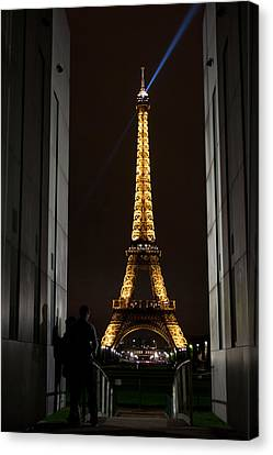 An Intimate Moment With Eiffel Canvas Print by John Daly