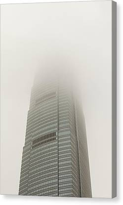 An Office Block In Hong Kong Canvas Print by Ashley Cooper