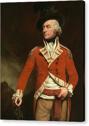 Opie Canvas Print - An Officer In The East India Uniform Of The 74th Highland by Litz Collection