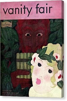 An Ogre Hovering Over A Youth Canvas Print by Georges Lepape