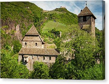 An Old Castle Ruin In Northern Italy Canvas Print