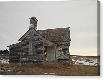 An Old Church On The Prairie  Canvas Print by Jeff Swan