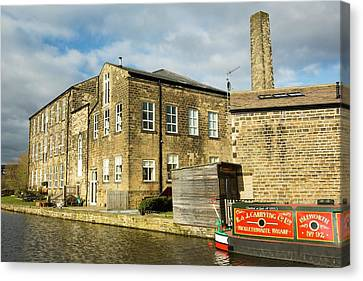 An Old Cotton Mill Converted Into Housing Canvas Print