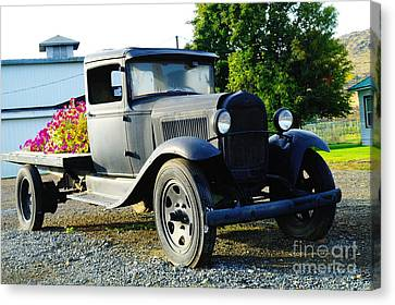 An Old Farm Truck  Canvas Print by Jeff Swan
