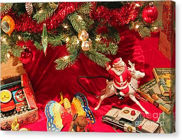 An Old Fashioned Christmas - Santa Claus Canvas Print