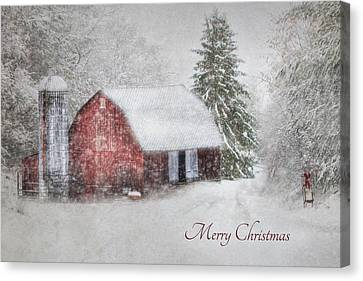 An Old Fashioned Merry Christmas Canvas Print by Lori Deiter