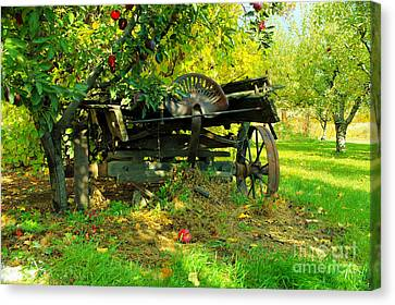 An Old Harvest Wagon Canvas Print by Jeff Swan