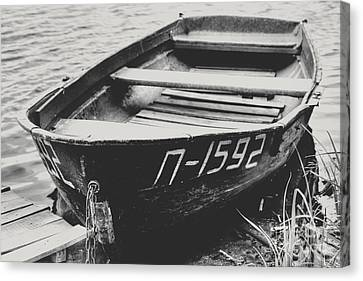An Old Kazakh Row Boat Canvas Print by Emily Kay
