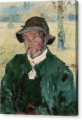 Impressionist Canvas Print - An Old Man, Celeyran, 1882 Oil On Canvas by Henri de Toulouse-Lautrec