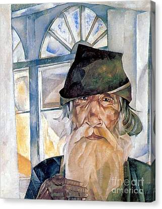 An Old Man From Olonets Canvas Print by Celestial Images