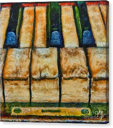Poster Canvas Print - An Old Piano by Dragica  Micki Fortuna